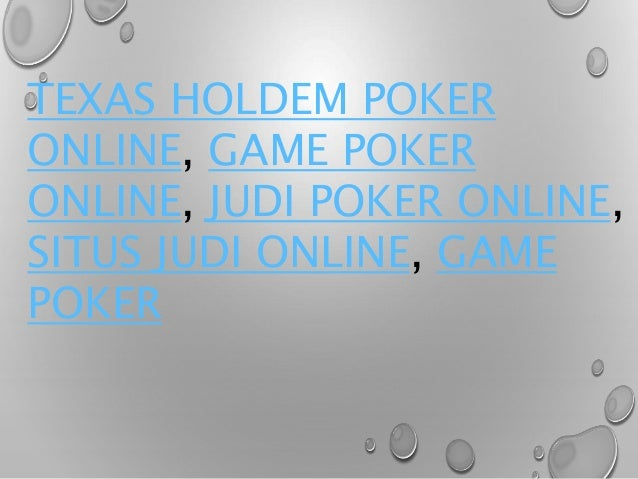 Earn Money Online By Playing Texas Holdem Poker Online