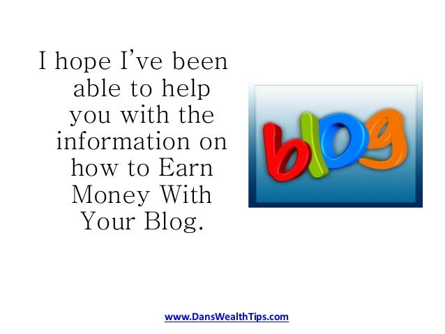 how to write a blog and earn money
