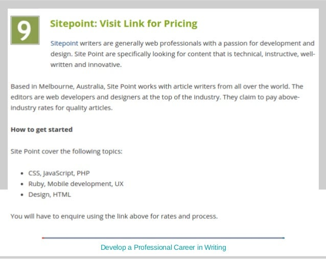 sites for writing articles for money