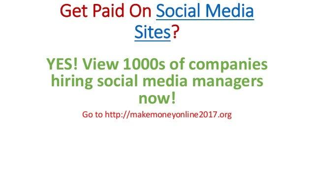 how to make money fast social media
