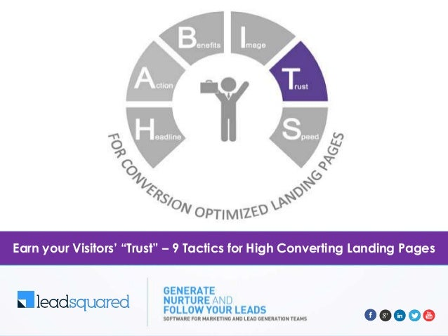 """Earn your Visitors' """"Trust"""" – 9 Tactics for High Converting Landing Pages"""