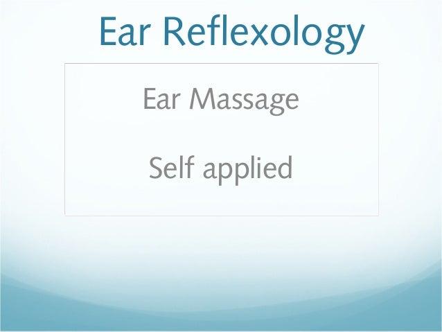 Ear ReflexologyEar MassageSelf applied