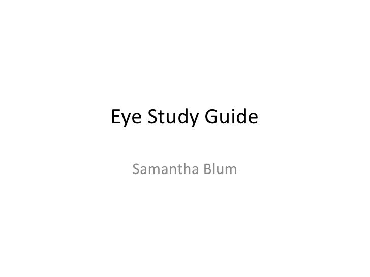 Eye Study Guide  Samantha Blum