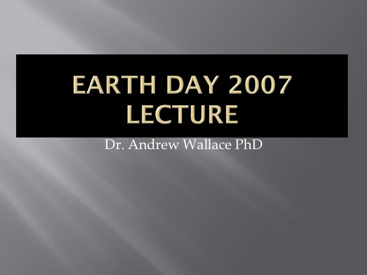 Dr. Andrew Wallace PhD