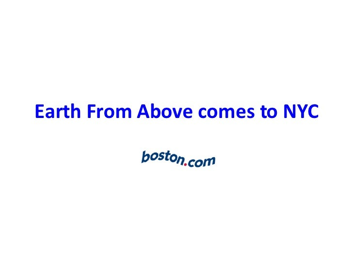 Earth From Above comes to NYC