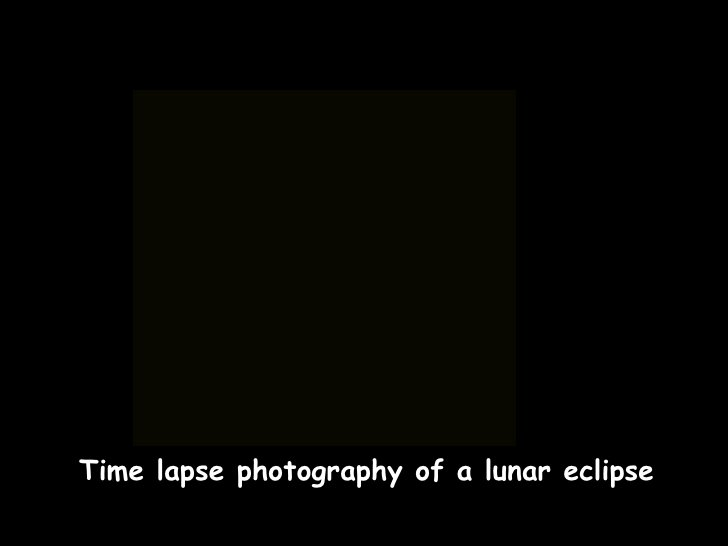 Time lapse photography of a lunar eclipse