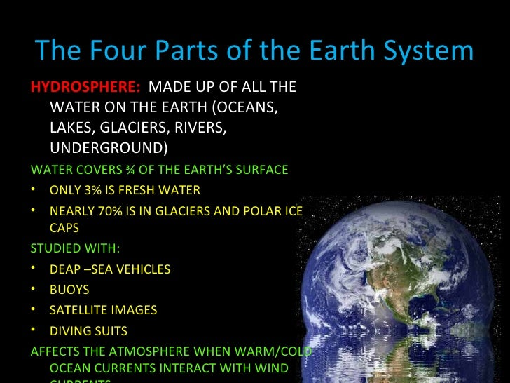 Earth Science - Earth's four oceans