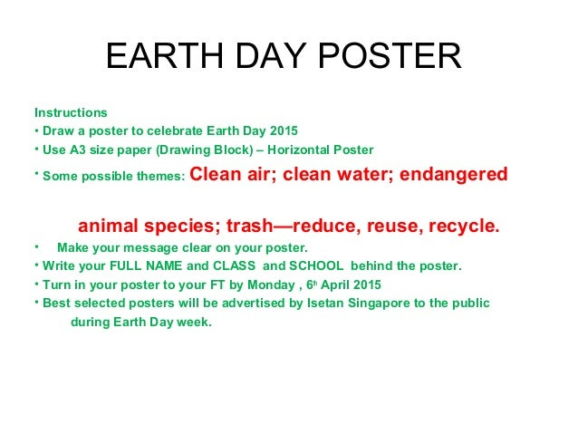 how to draw earth day poster