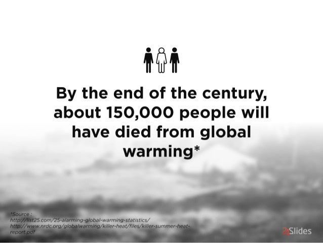 ilii  By the end of the century,  about 150,000 people will have died from global warming*