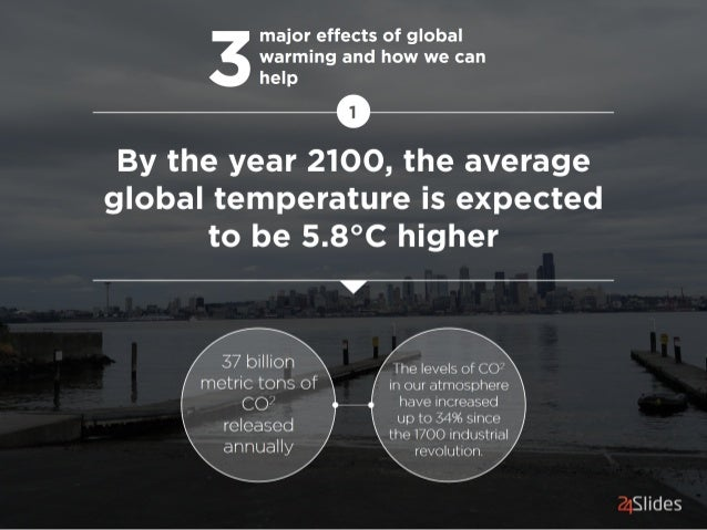 major effects of global 3 warming and how we can help  and  By the year 2100, the average global temperature is expected t...