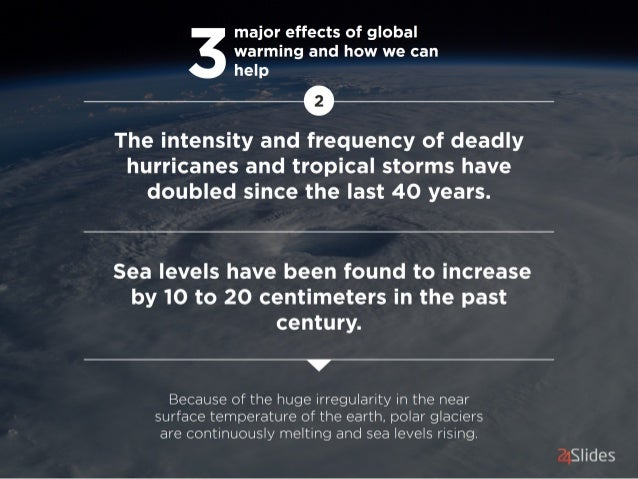 major effects of global '  warming and how we can   help         The intensity and frequency of deadly hurricanes and trop...