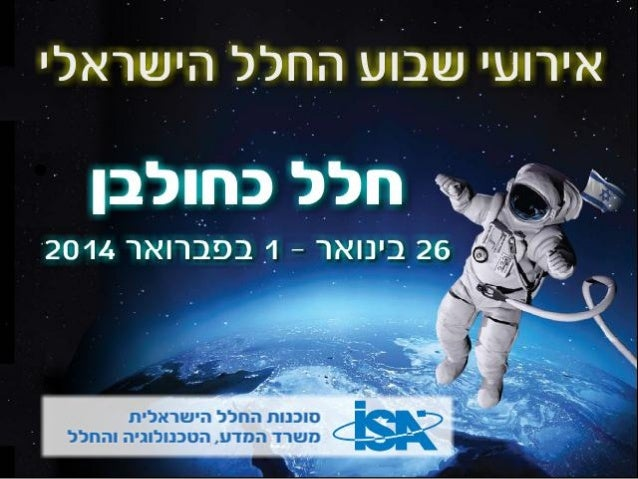 """""""Earth has Acquired a New Moon"""" Space Art Projects Israel Space Week 2014 Romi Mikulinsky January 2014"""