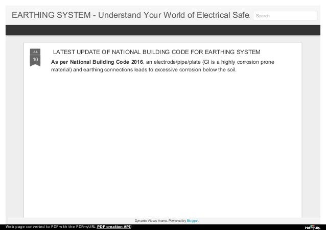 latest update of national building code for earthing system