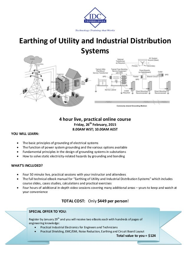 Earthing of Utility and Industrial Distribution Systems Living Online