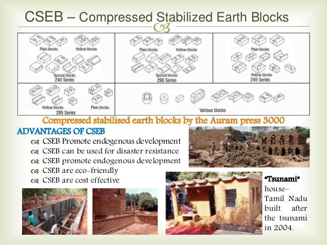 Stabilized Compressed Earth Blocks : Earth materials