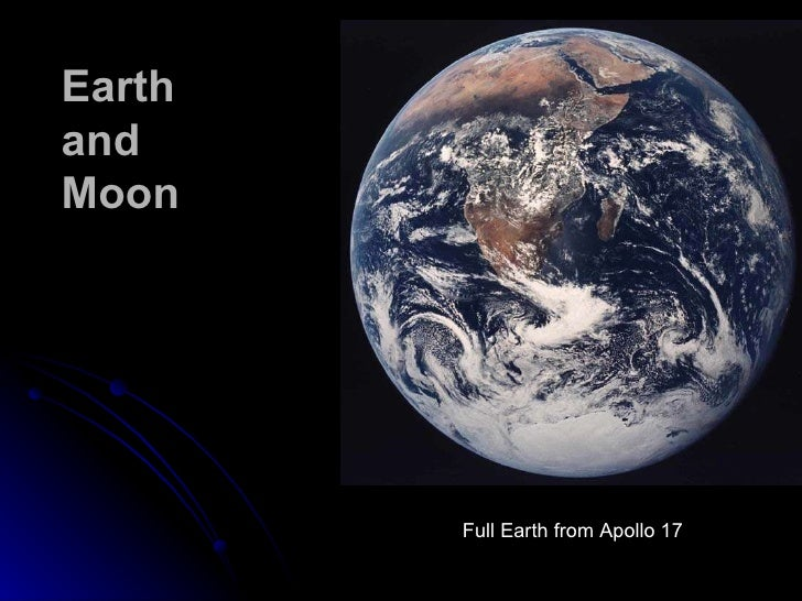 Earth  and Moon Full Earth from Apollo 17