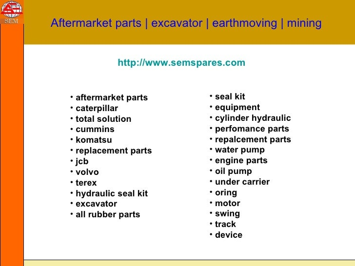 Earthmoving Equipment parts :: aftermarket parts | mining