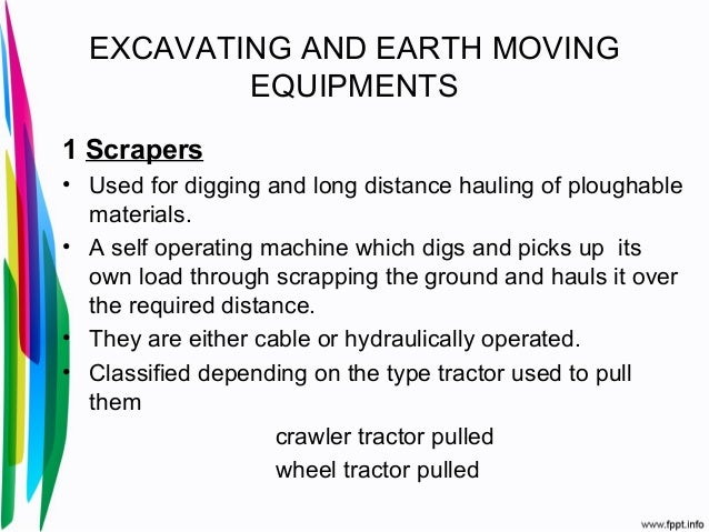 Earth moving equipments.