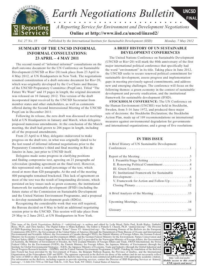 Earth Negotiations Bulletin                                                                                             UN...