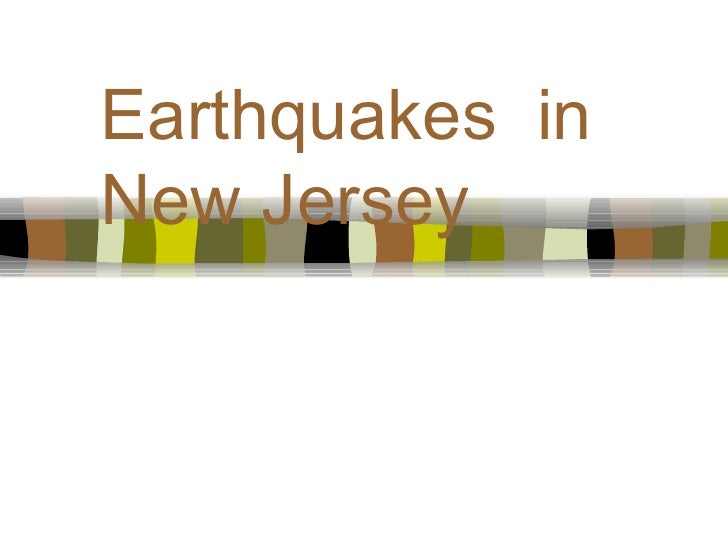 Earthquakes  in New Jersey