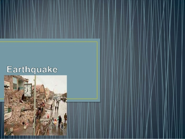• An earthquake is the result of a sudden release of energy in the Earth's crust that creates seismic waves. The seismicit...