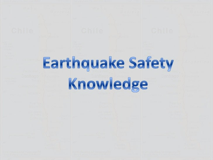 Earthquake Safety Knowledge<br />