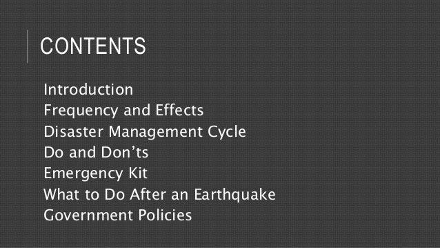 Earthquake - Disaster Management Slide 3