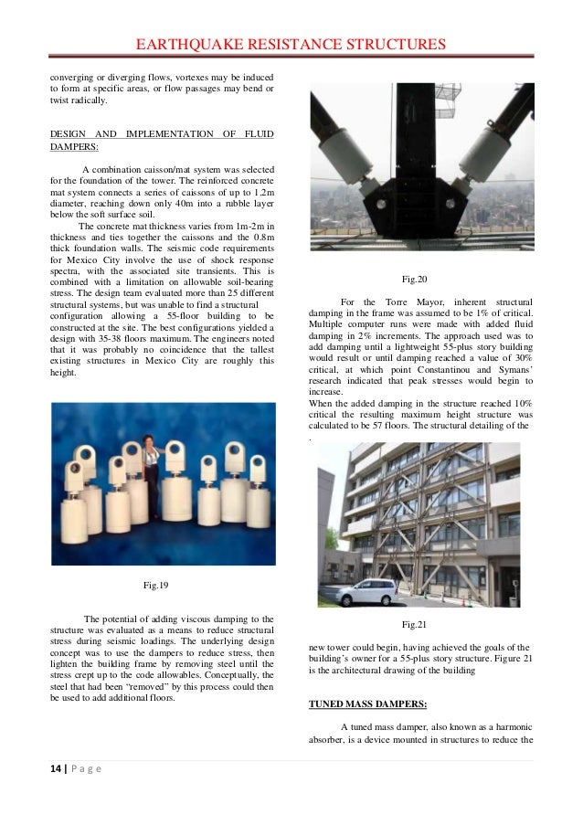 earthquake resistance design Ensuring a reasonable earthquake resistance for new sdc would like to contribute to the dissemination of knowledge on seismic design of buildings by translat-ing this fwog publication in english and thus extend-ing its readership among construction professionals.