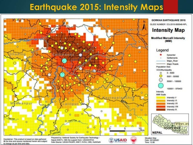 Mapping recent earthquake in nepal and its geo spatial impacts earthquake 2015 intensity maps gumiabroncs Choice Image