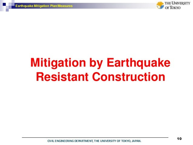 earthquake mitigation Earthquake preparedness and mitigation guidance for oregon state agency offices and warehouses prepared by oregon emergency management with the assistance of the .