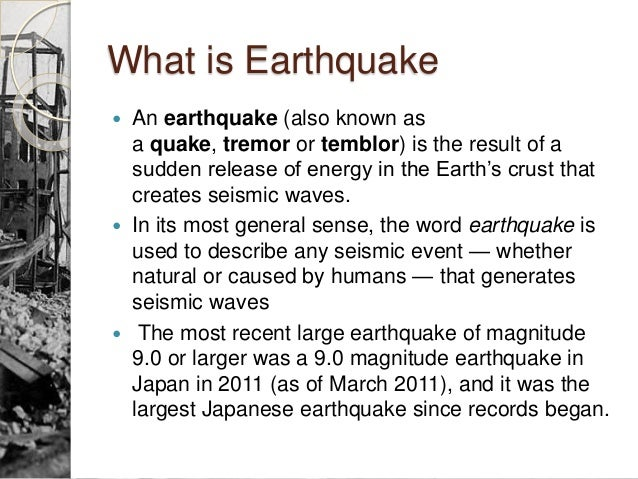 earthquake causes and effects essay