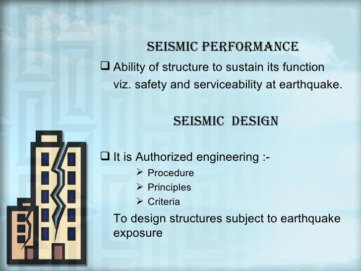 abstract for earthquake resistant structures Base isolation (bi) system for buildings is introduced to iv contents abstract 221 base-isolation review for earthquake resistant.