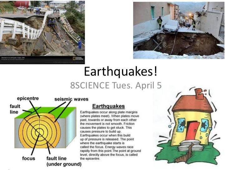 Earthquakes!<br />8SCIENCE Tues. April 5<br />