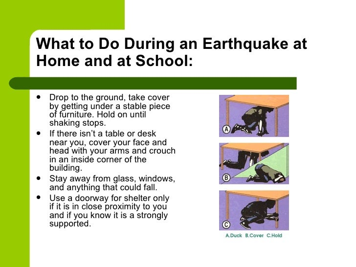 Earthquake safety for Where do you go in an earthquake