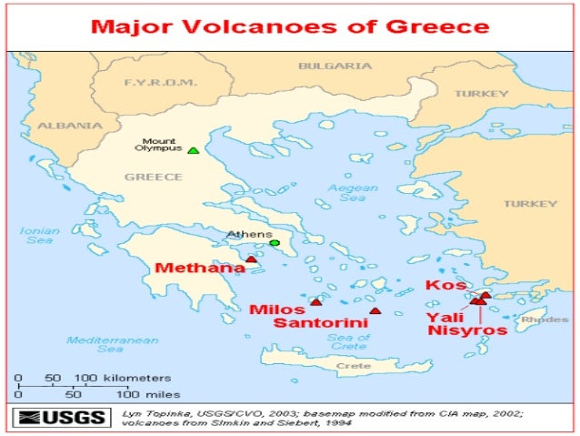 Earthquakes and volcanoes in Greece