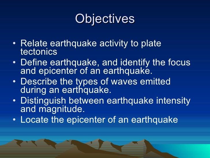 Earthquakes Slide 2