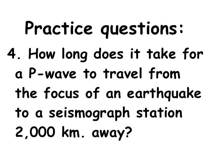 Earthquake Notes Slide show