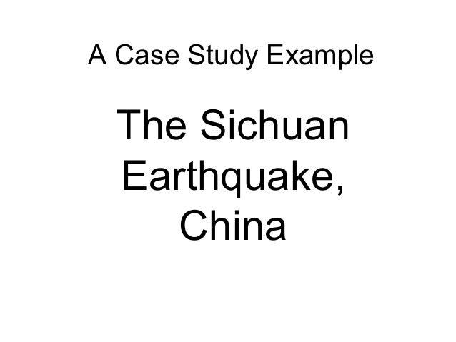 Earthquake template china