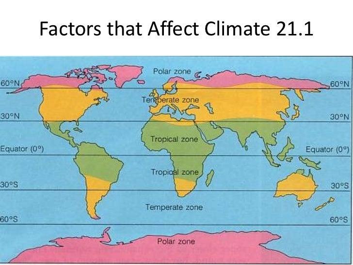 Factors that Affect Climate 21.1 <br />
