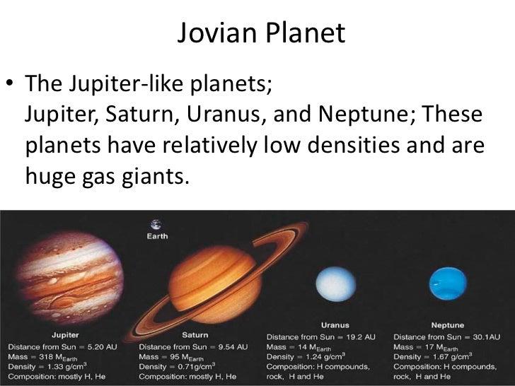 jovian planets density - photo #5