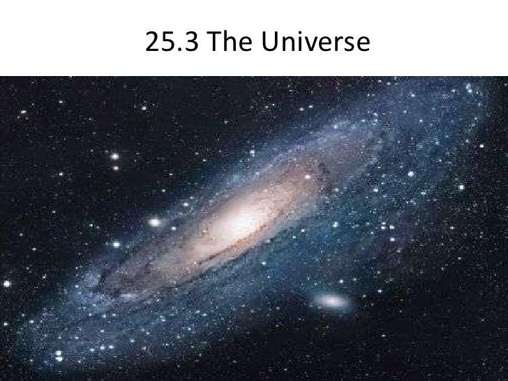 25.3 The Universe <br />