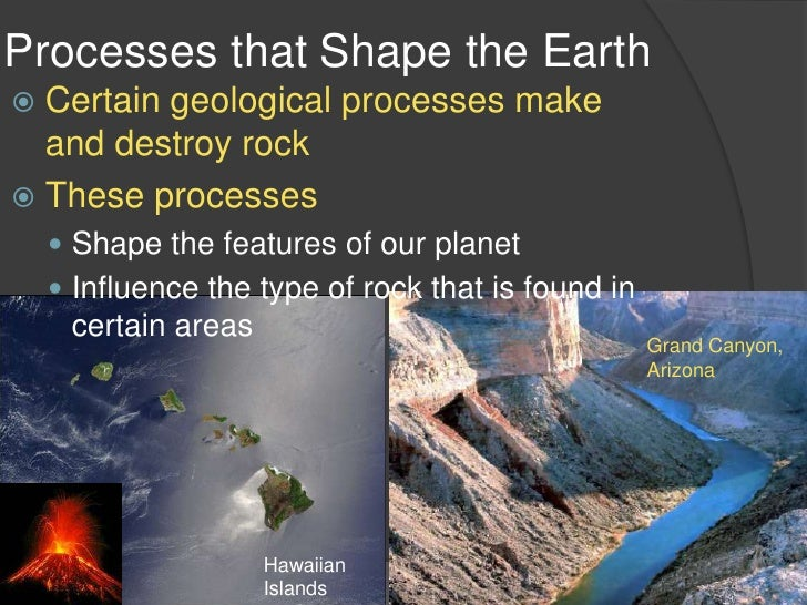 Processes That Shape the Earth