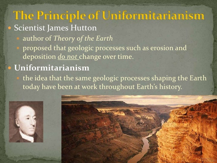 james hutton develops views on earths geologic processes Aspiring geologists are taught that hutton was a bold empiricist and rational thinker, who  james hutton (1726–1797) was one of the leading lights of the edinburgh  and laid down the principles of slow, constant processes acting over eons to  he did not develop his ideas about deep time from field data, but from the.