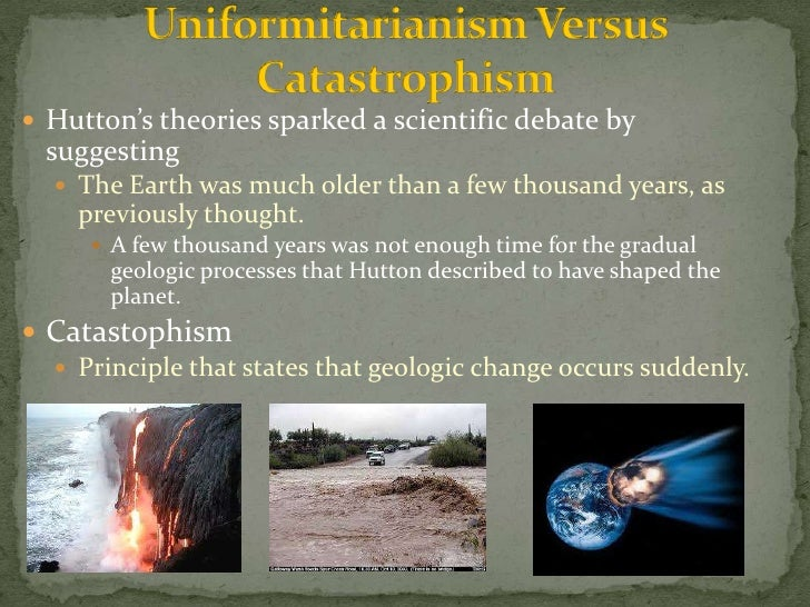 An examination of the paradigm of catastrophism in geology in principles of geology by charles lyell