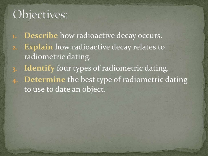 Radioactive decay related to radiometric dating