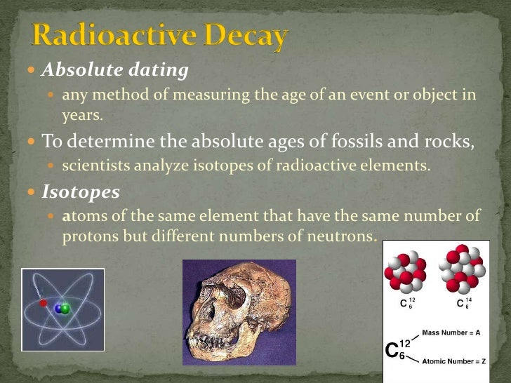 What does radioactive dating mean