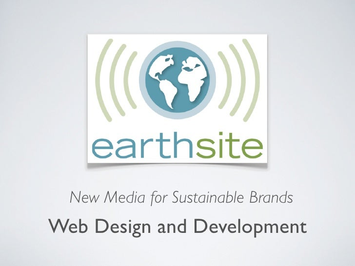 New Media for Sustainable Brands Web Design and Development