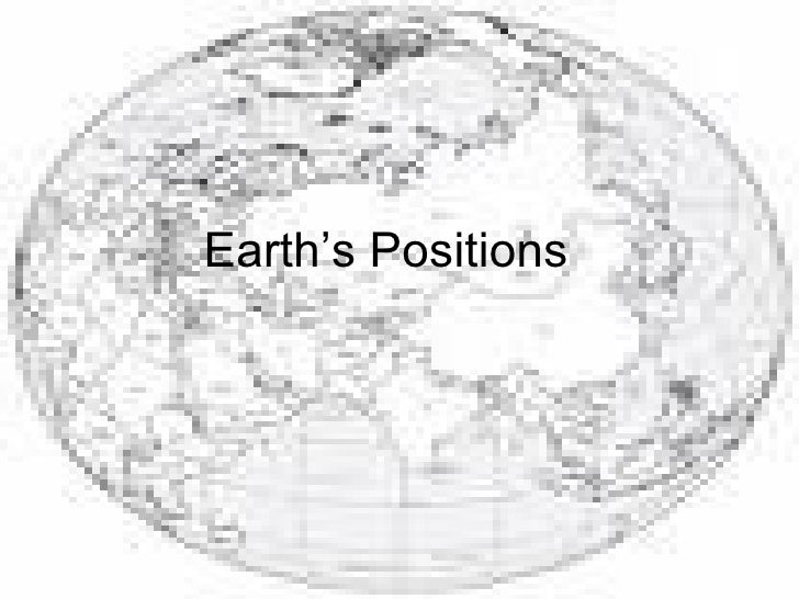 Earth's Positions