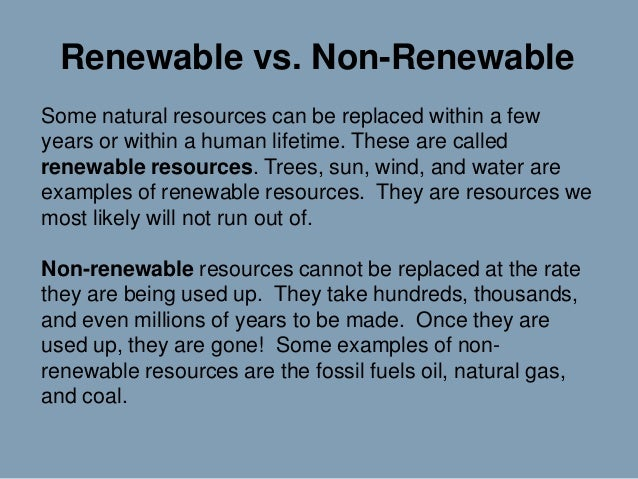 What Are Some Non Renewable Natural Resources