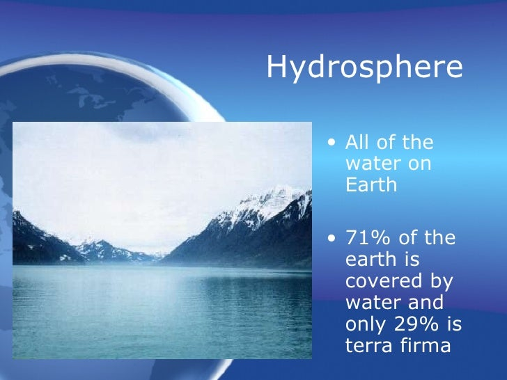 4 major spheres of earth